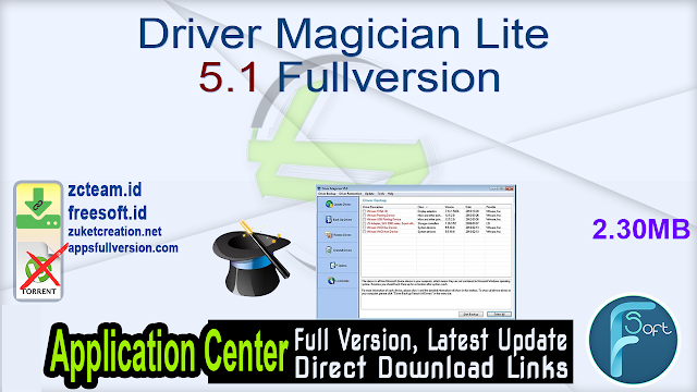Driver Magician Lite 5.1 Fullversion