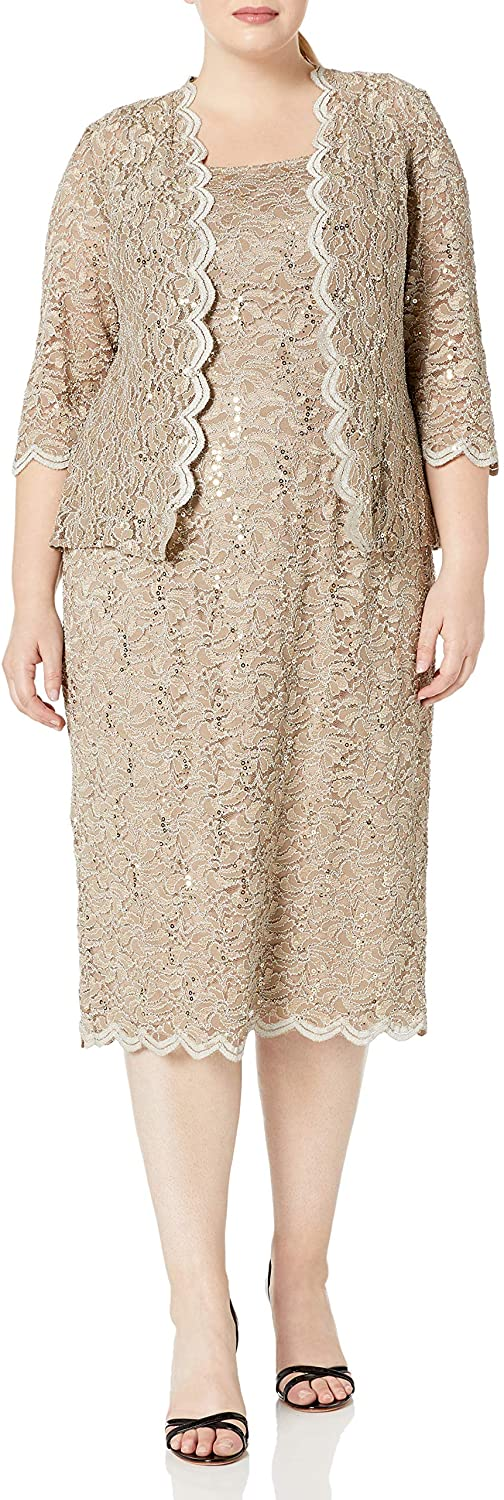 Champagne - Mother of the Bride Knee Length Dresses With Jackets