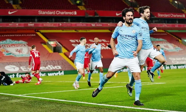 Man City last season caused Liverpool to lose painfully at Anfield. Photo: DM