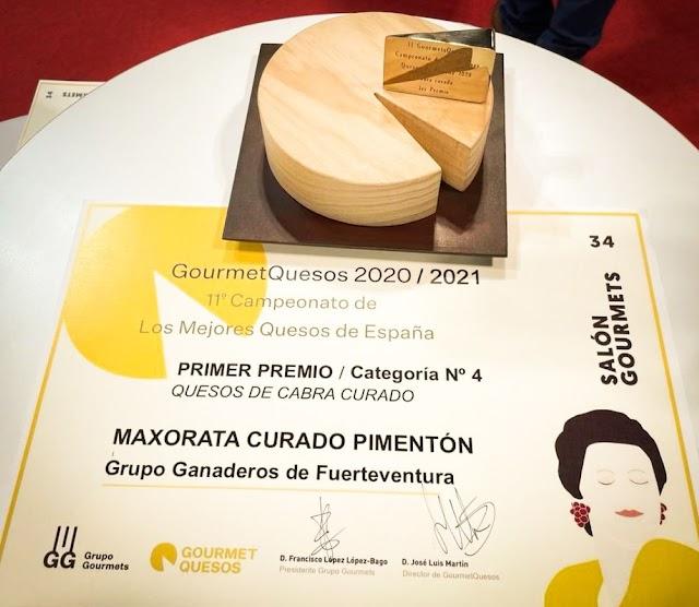 Fuerteventura.- Queso Maxorata Pimentón Curado elegido mejor queso de cabra curado de España en el  Salón Gourmets de Madrid.