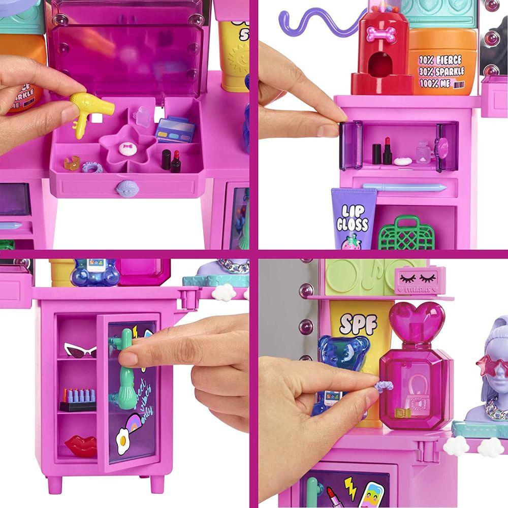 Большой набор Barbie Extra с зеркалом и аксессуарами