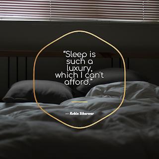 Sleep is such a luxury, which I can't afford - Robin Sikarwar