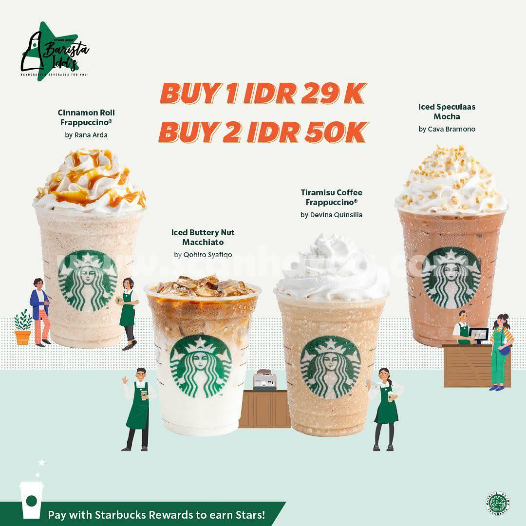 Promo Starbuck Barista Idol's cuma Rp 29.000