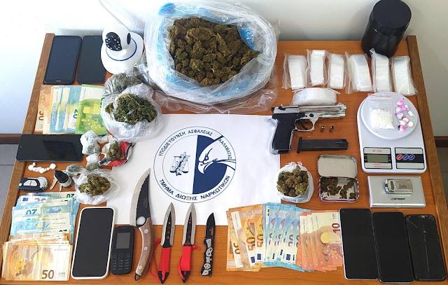 Εξαρθρώθηκε εγκληματικό δίκτυο διακίνησης ναρκωτικών στη Μεσσηνία