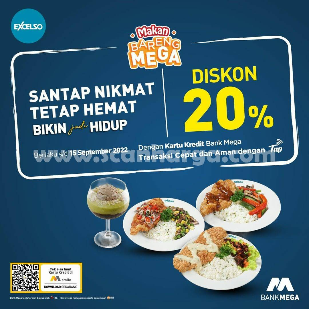 Promo EXCELSO – DISKON 20% dengan Kartu Kredit Bank Mega