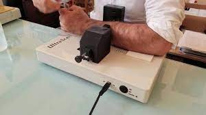 Bone Sonometer is a device used to determine bone properties by transmitting ultrasound energy through the body