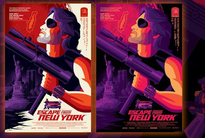 New York Comic Con 2021 Exclusive Escape From New York Screen Print by Tom Whalen x Vice Press
