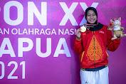 Pertama Ikut PON XX Papua, Dinda Putri Berhasil Raih Medali Emas