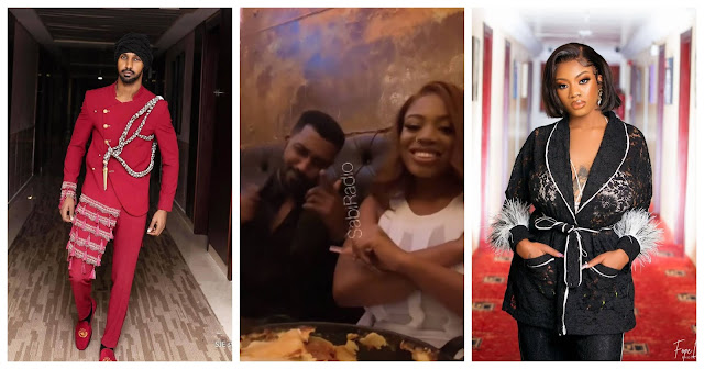 #BBNaija Yousef and Angel spotted on a Dinner date (Video)