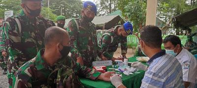 Milad 76 Tahun, TNl Di Aceh Barat Berburu Amal Jariah Lewat Kantong Darah