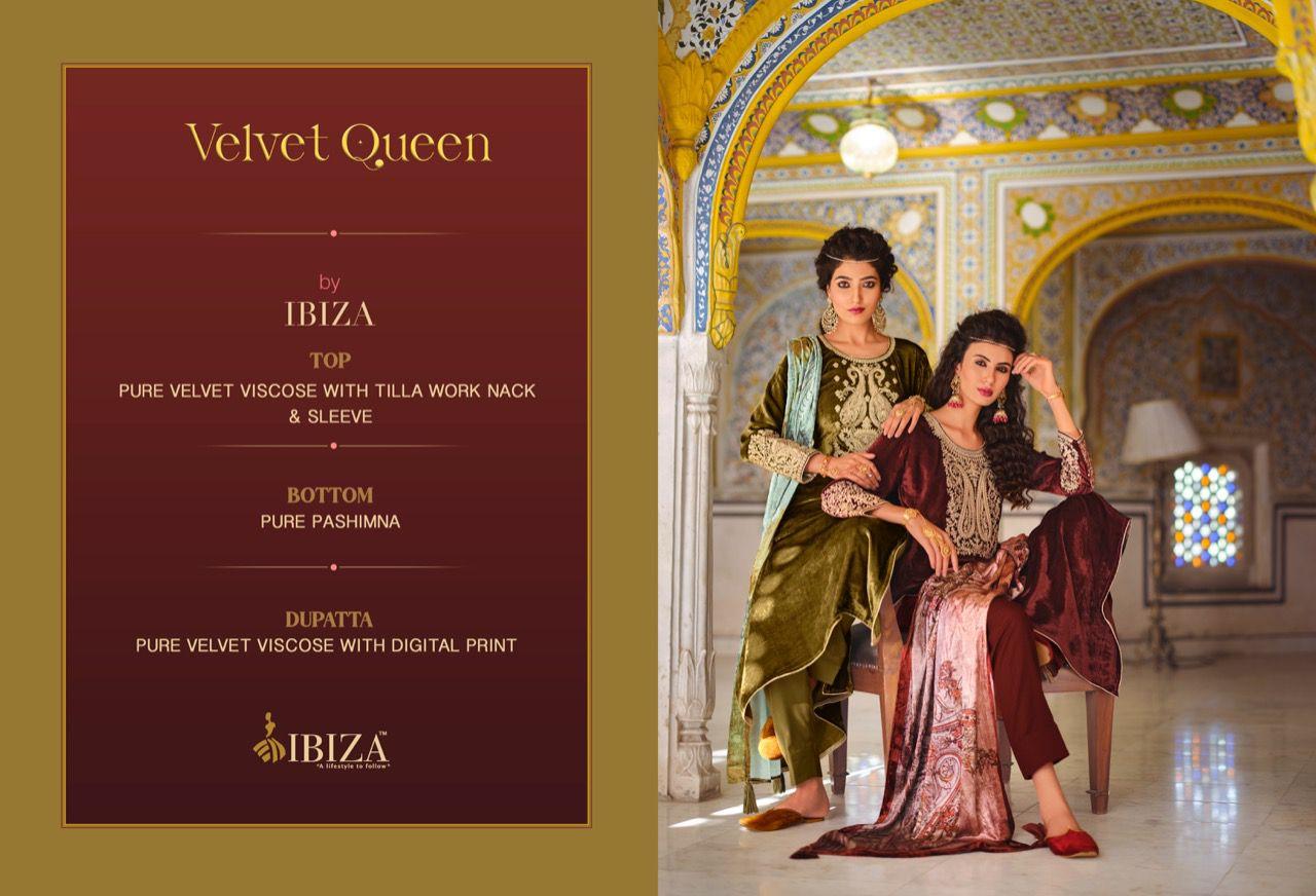Ibiza Velvet Queen Pant Style Suits Catalog Lowest Price
