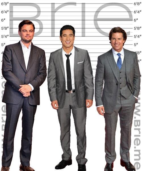 Mario Lopez height comaprison with Leonardo DiCaprio and Tom Cruise