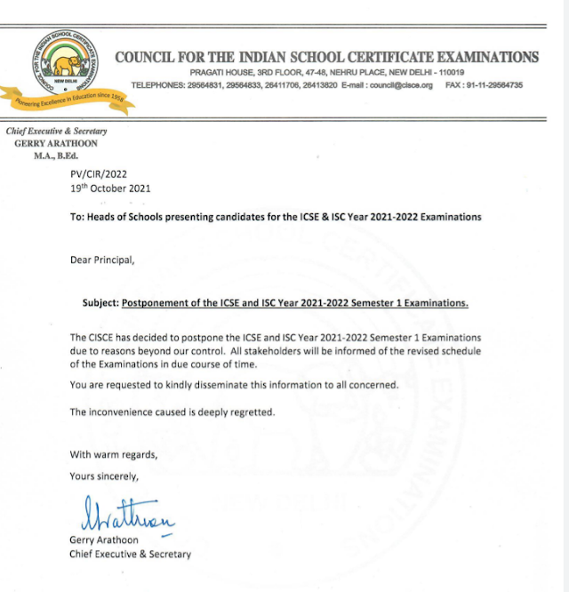 ICSE/ISC Semester 1 Postponed - 10 Things to Know