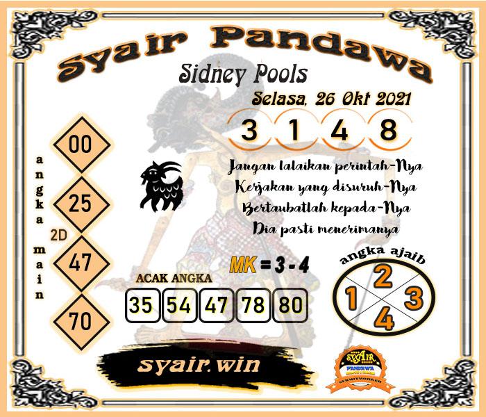 Syair Pandawa Sidney Selasa 26 Oktober 2021