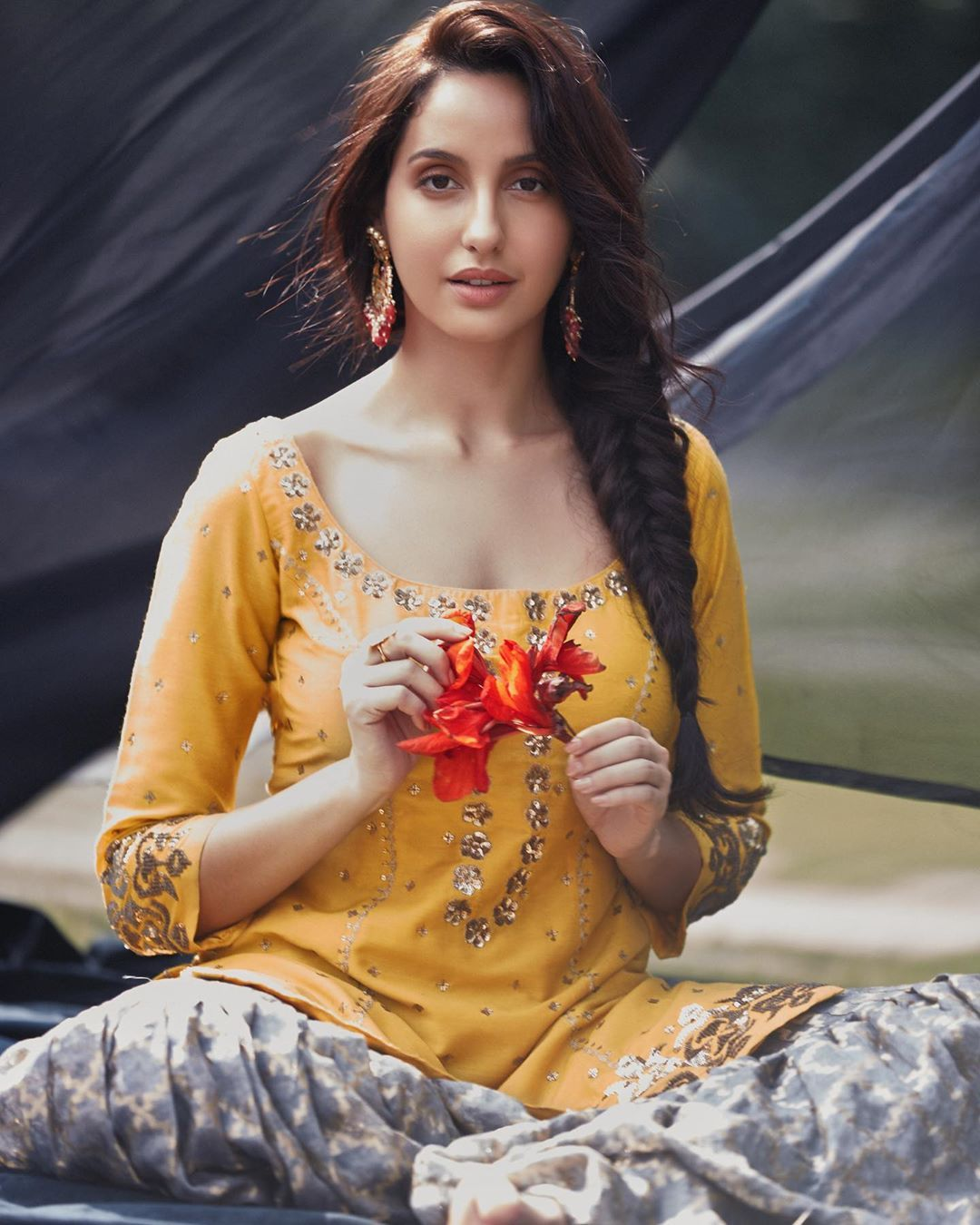 Actress Nora Fatehi Latest Hot Navel Photos