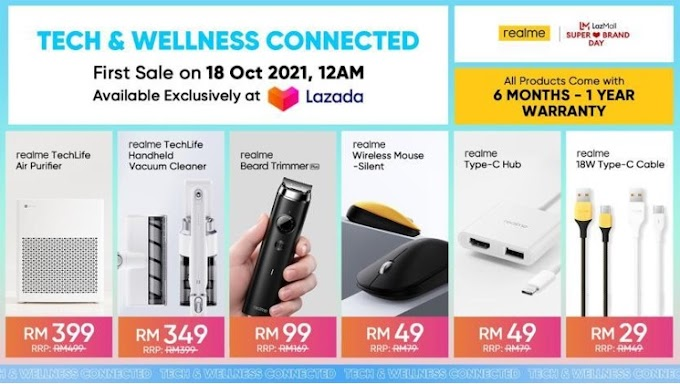realme TechLife | STAY TECH & WELLNESS CONNECTED WITH THE LATEST ADDITIONS OF THE REALME AIOT FAMILY