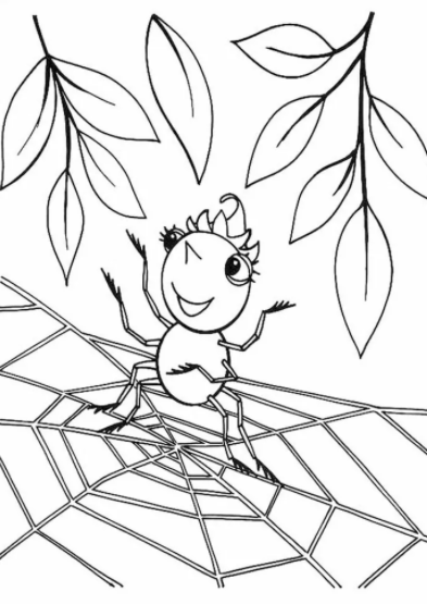 Cute Spider Coloring Pages