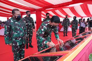 Panglima TNI Resmikan Markas Kogabwilhan I, II, III dan Monumen Tri Matra