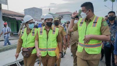 Warga Bersyukur Jalan Pancing 1 Medan Labuhan Mulai Dibeton, Target Selesai Akhir Desember 2021