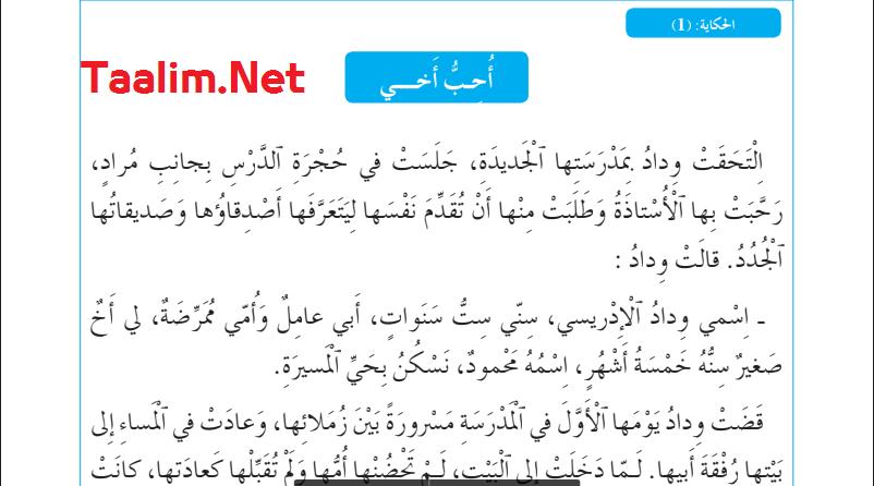 تحميل جميع نصوص الحكايات المستوى الأول وفق مرجع المفيد في اللغة العربية 2022/2021