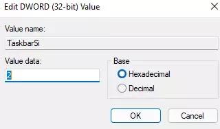 Cara Mengubah UKuran Taskbar Windows 11-5