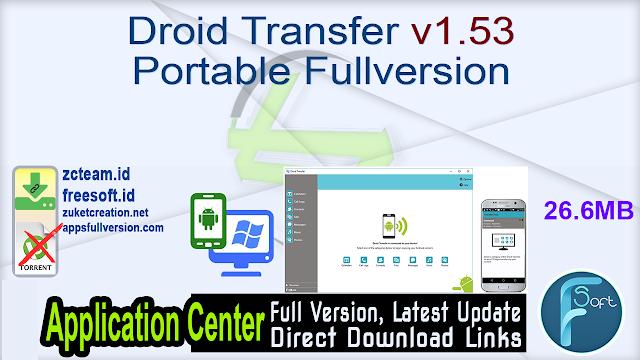 Droid Transfer v1.53 Portable Fullversion
