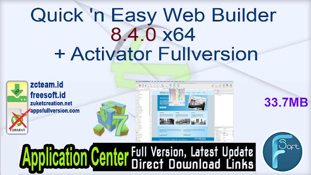 Quick 'n Easy Web Builder 8.4.0 x64 + Activator Fullversion