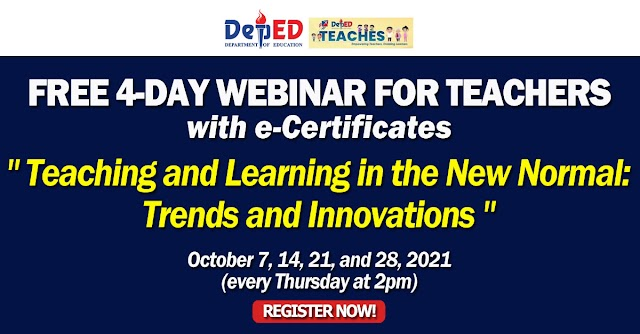 """FREE 4-DAY WEBINAR FOR TEACHERS 