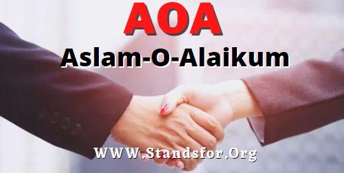 AOA- Aslam o alaikum