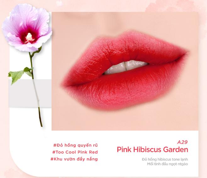 Màu A29 - Pink Hibiscus Garden