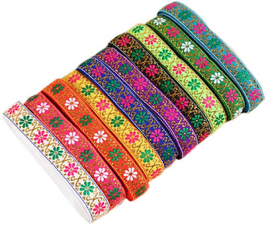 Colorful Jacquard Ribbons For Embellishment Craft Supplies