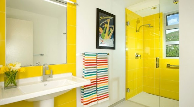bold brights color for bathroom