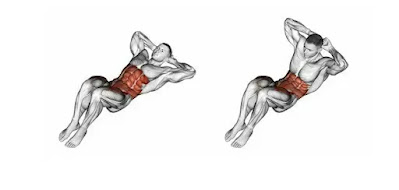 Crunches, muscle and strength full body workout