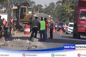 Perbaikan Jalan Di Pantura Lamongan, Lantas Siapkan Jalur Alternatif