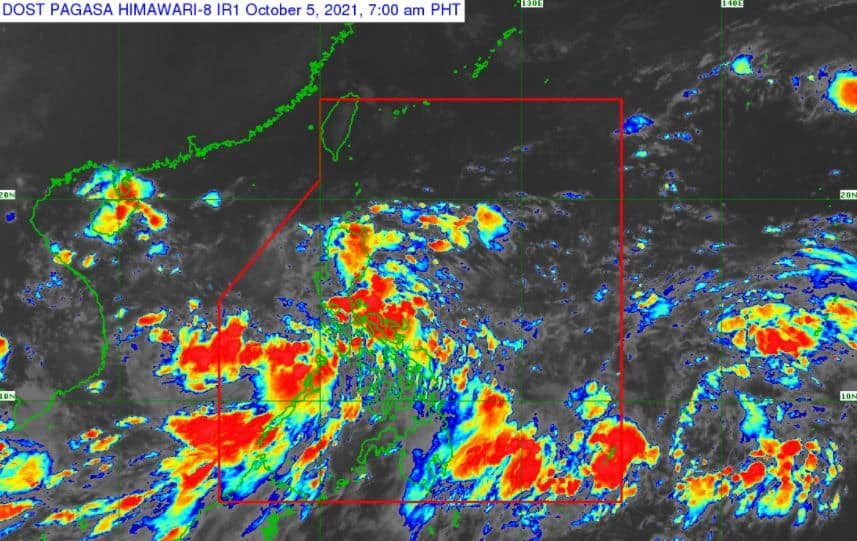 Satellite image of 'Bagyong Lannie' as of 7:00 am, October 5, 2021