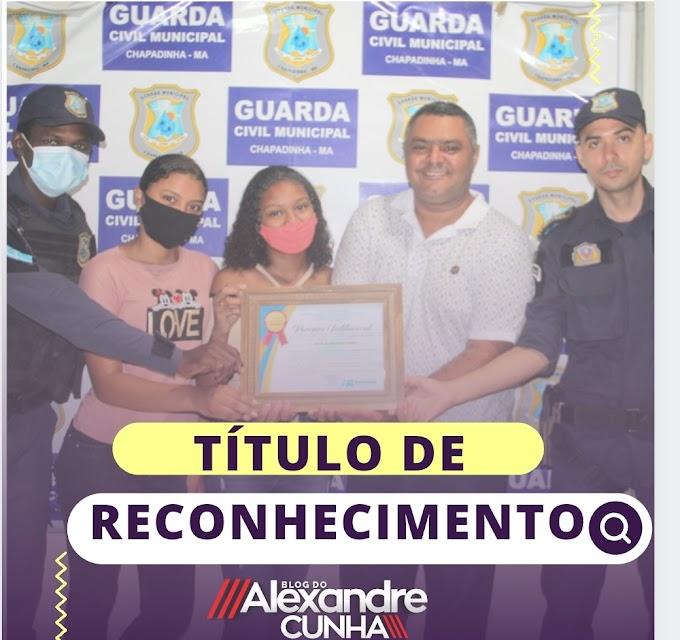 Pela segunda vez, Blog Alexandre Cunha é reconhecido com título de Parceiro Institucional da Guarda Municipal de Chapadinha