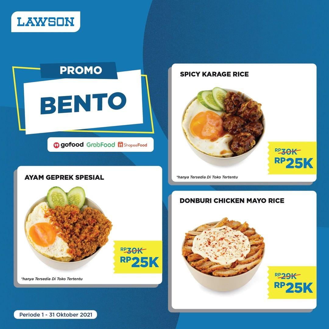 LAWSON Promo BENTO Harga Paket Serba Rp. 25.000