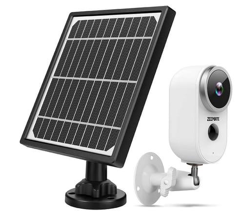 ZEEPORTE 1080P Solar Powered Home Security Camera