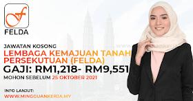 Jawatan Kosong FELDA ~ Gaji RM1,218 - 9,551/ Minima PMR/PT3 Layak Memohon