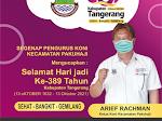 Ucapan HUT Kabupaten Tangerang Ke-389 dari Pengurus KONI Kecamatan Pakuhaji