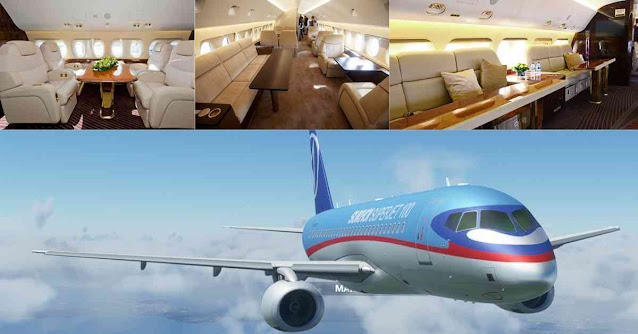 Most Luxurious Private Planes In The World - Sukhoi Super Jet 100 - Moniedism