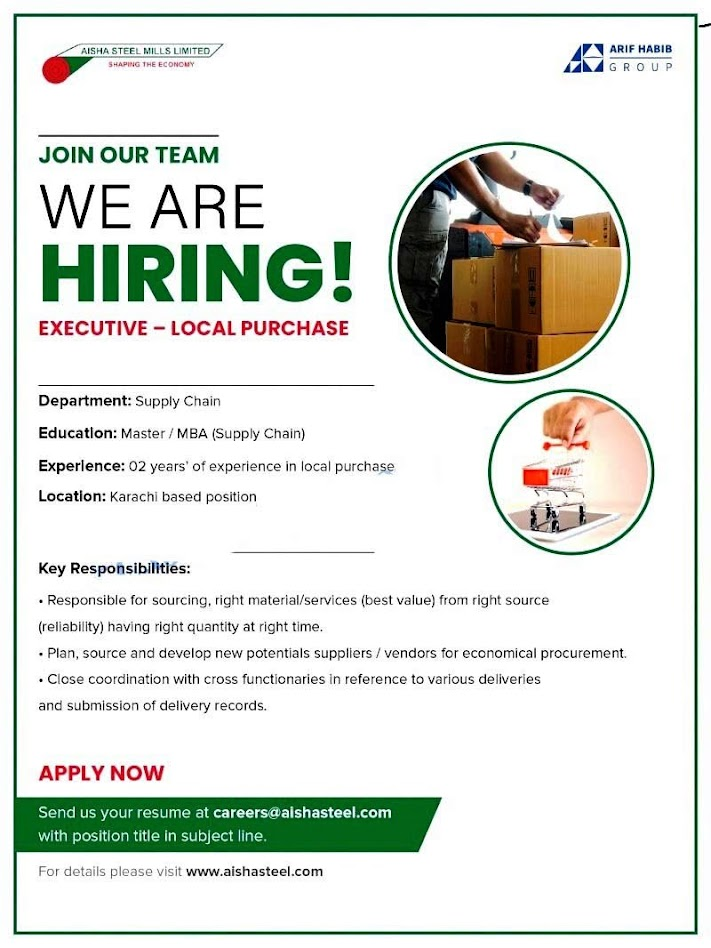 Aisha Steel Mills Ltd Latest Jobs 2021 Latest – Aisha Steel Mills Careers online apply