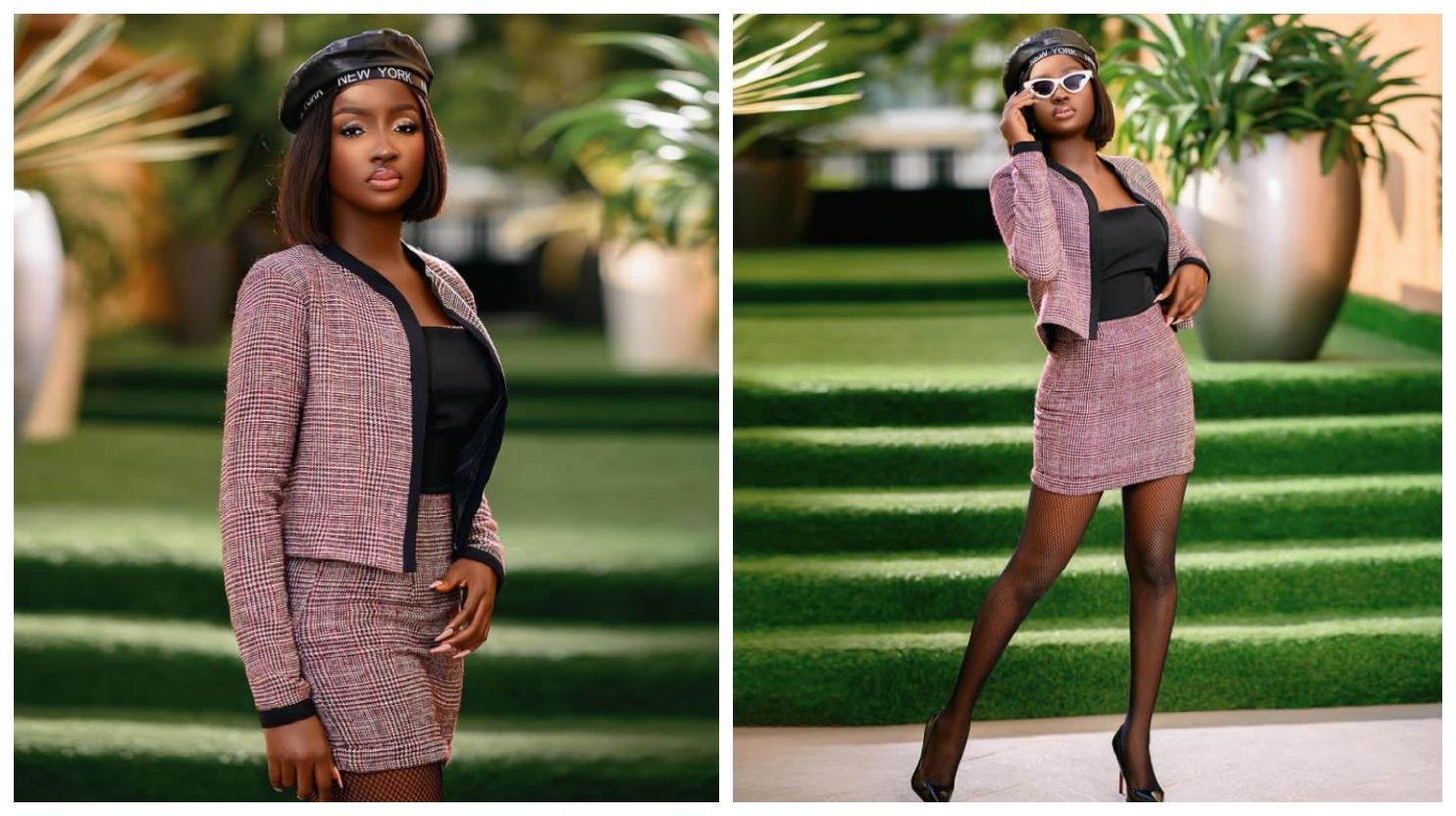 "BBNaija: Saskay flaunts her beauty in new photos, call herself ""A black girl with magic"""
