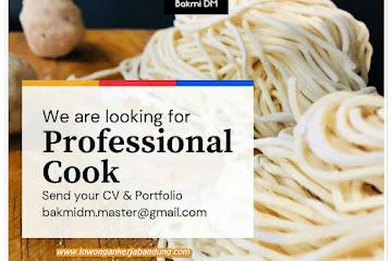 Loker Bandung Professional Cook Bakmi DM