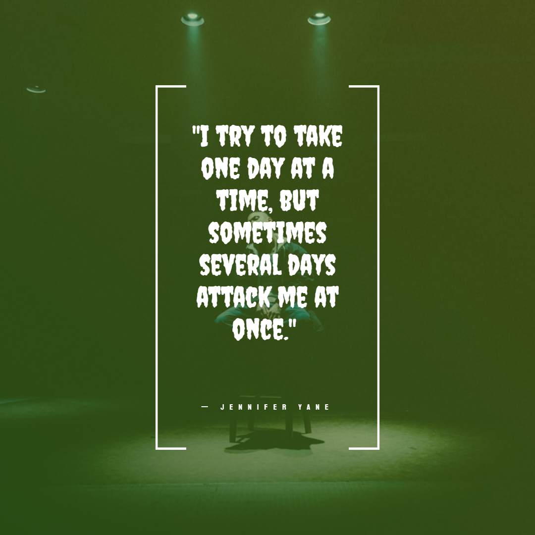 Funny Quotes About Work Stress -1234bizz: (I try to take one day at a time, but sometimes several days attack me at once. — Jennifer Yane)