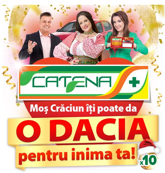 Concurs Catena 2021 - Mos Craciun iti poate una din cele 10 masini Dacia Logan, de culoare rosu-inchis, pentru inima ta - mos craciun - farmacie - tombola - concursuri - online - castiga.net