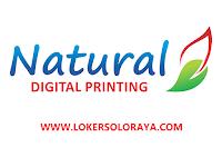Lowongan Kerja Solo & Jakarta Bulan Oktober 2021 di Natural Digital & Offset Printing