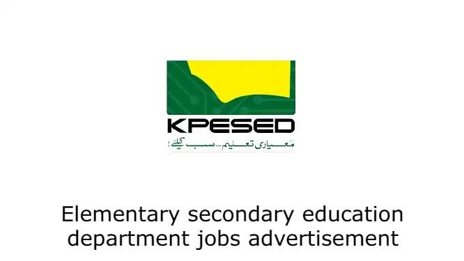 Elementary secondary education department jobs advertisement