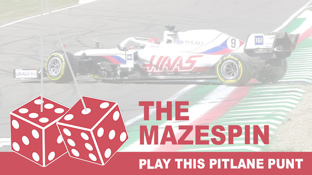 Play the Mazespin Pitlane Punt