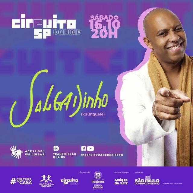 Circuito SP Online e Prefeitura de Registro-SP apresentam show do cantor Salgadinho